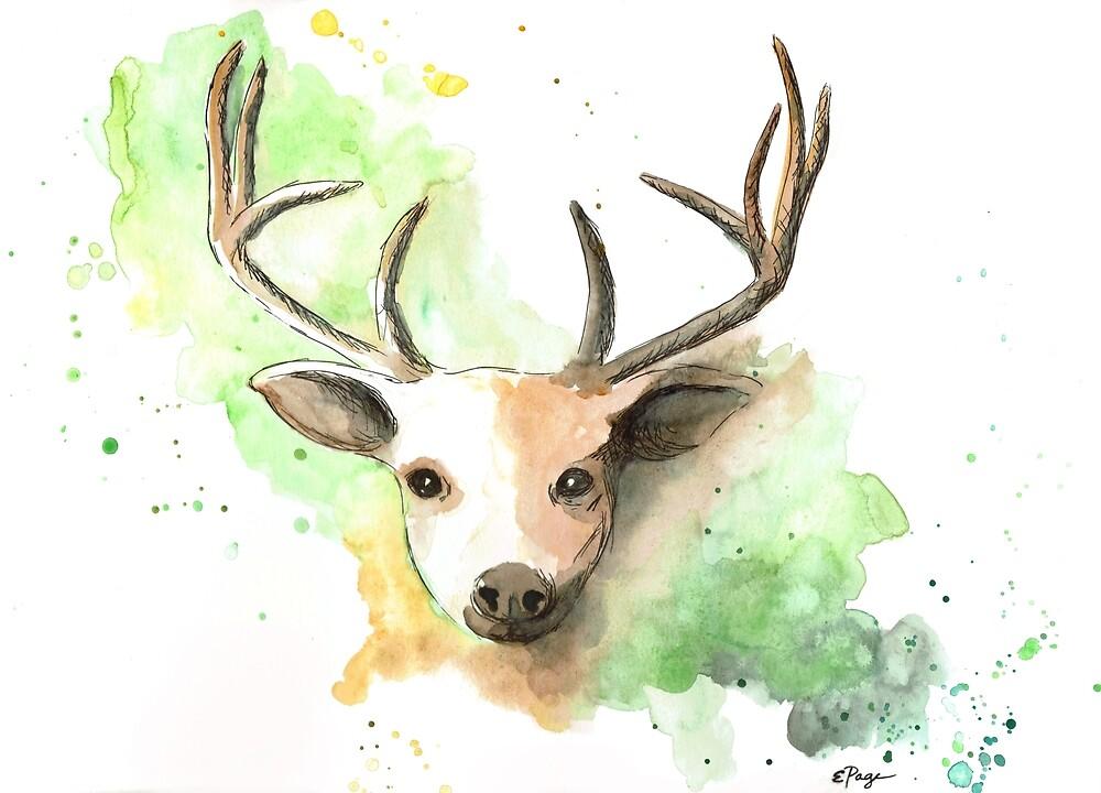 Deer II by emilypageart