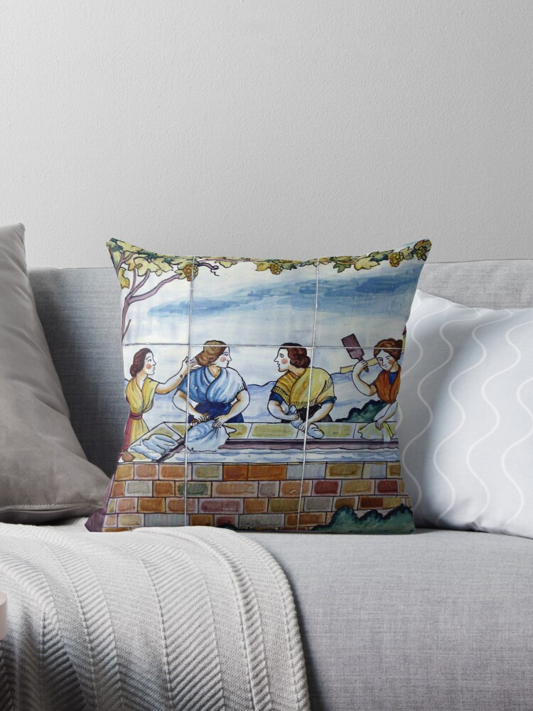 Spanish Tiles - No.7 Washerwomen by comtessek
