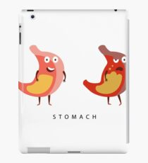 Healthy vs Unhealthy Stomach Infographic Illustration iPad Case/Skin
