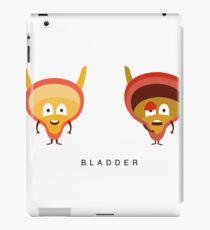 Healthy vs Unhealthy Bladder Infographic Illustration iPad Case/Skin