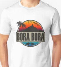 Bora Bora Paradies Tropisches Design Slim Fit T-Shirt