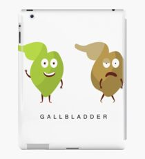 Healthy vs Unhealthy Gallbladder Infographic Illustration iPad Case/Skin