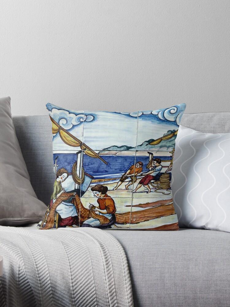 Spanish tiles - No.3 fisherman by comtessek