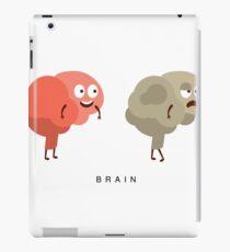 Healthy vs Unhealthy Brain Infographic Illustration iPad Case/Skin