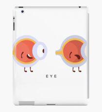 Healthy vs Unhealthy Eye Infographic Illustration iPad Case/Skin
