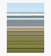 Sky Water Beach Grass Photographic Print