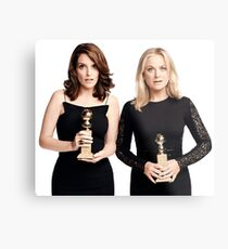 Amy and Tina Golden Globes Metal Print