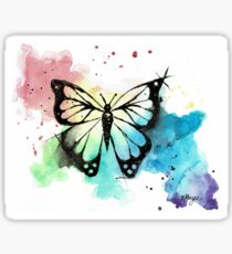 Butterfly in Watercolor and India Ink Sticker