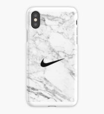 NikeWhite Marble tick case iPhone Case/Skin