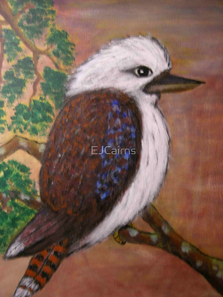 Baby Kookaburra; Australiana EJCains Original Sold  by EJCairns