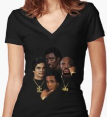 THE GOLD ERA OF BOXING Women's Fitted V-Neck T-Shirt