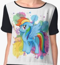 my little pony rainbow dash Women's Chiffon Top