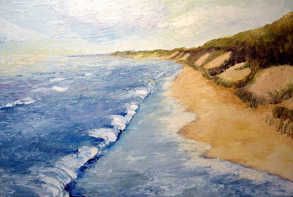Lake Michigan with Whitecaps by Michelle Calkins