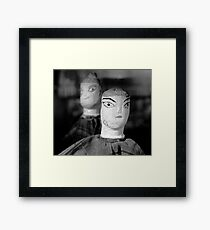 Small Characters  Framed Print