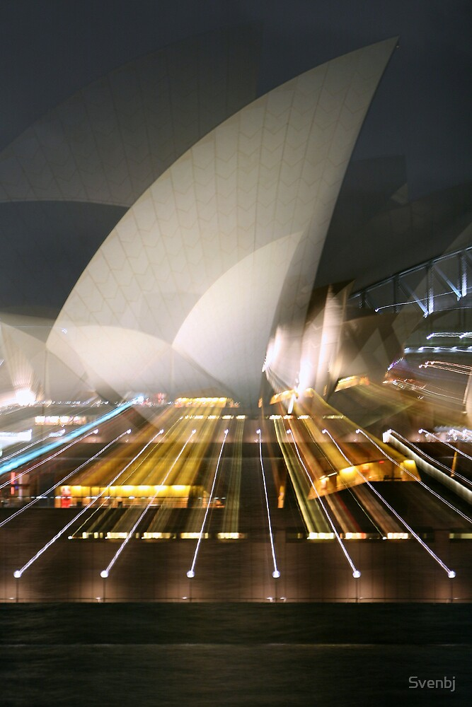 Zooming Sydney Opera House Australia architecture by Svenbj