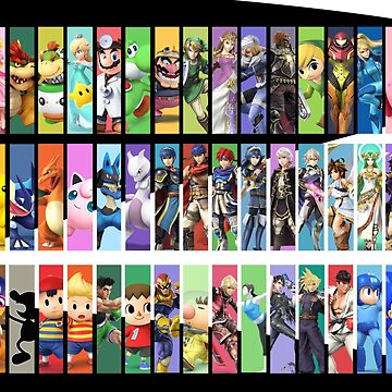 Super Smash Bros. For Nintendo 3DS/ Wii U Poster by yoshisaredragon
