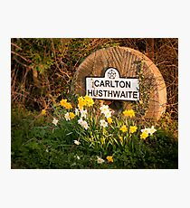 Village sign Photographic Print