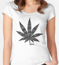 Chronic Leaf Fitted Scoop T-Shirt