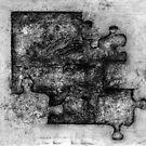 Jigsaw Frottage 3. by Andrew Nawroski