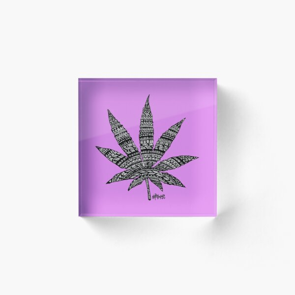 Chronic Leaf Acrylic Block