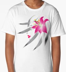 woman profile with flower Long T-Shirt