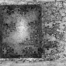 Jigsaw Frottage 5. by Andrew Nawroski