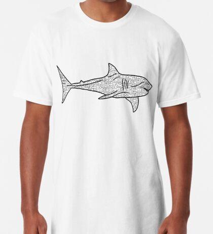Poker Shark Fish Long T-Shirt