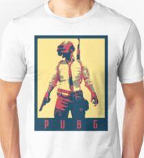 Camiseta ajustada PUBG (Campos de batalla del jugador desconocido) Político