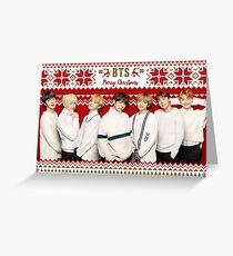 BTS Frohe Weihnachten [Klicken Sie hier, um weitere Artikel mit diesem Motiv zu sehen] Grußkarte