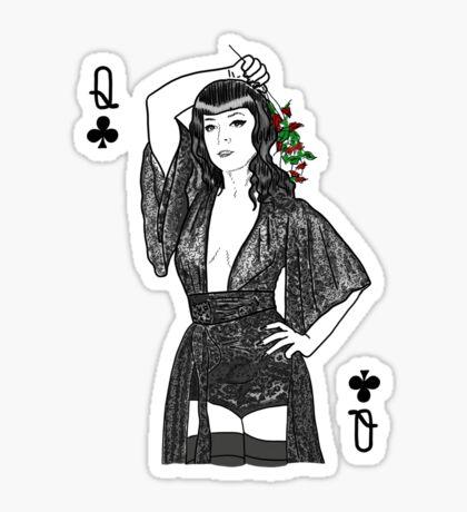Queen of Clubs  Sticker