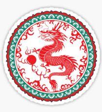 Asian dragon. Good luck! Sticker