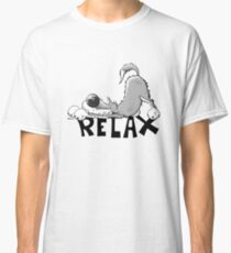 Funny relaxing wolf cartoon Classic T-Shirt