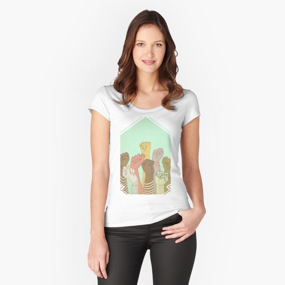 zusammen Tailliertes Rundhals-Shirt