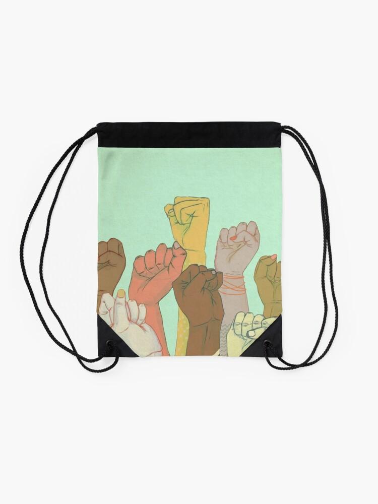 Alternate view of together Drawstring Bag