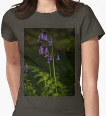 Two Bluebells in Prehen Woods, Derry Women's Fitted T-Shirt