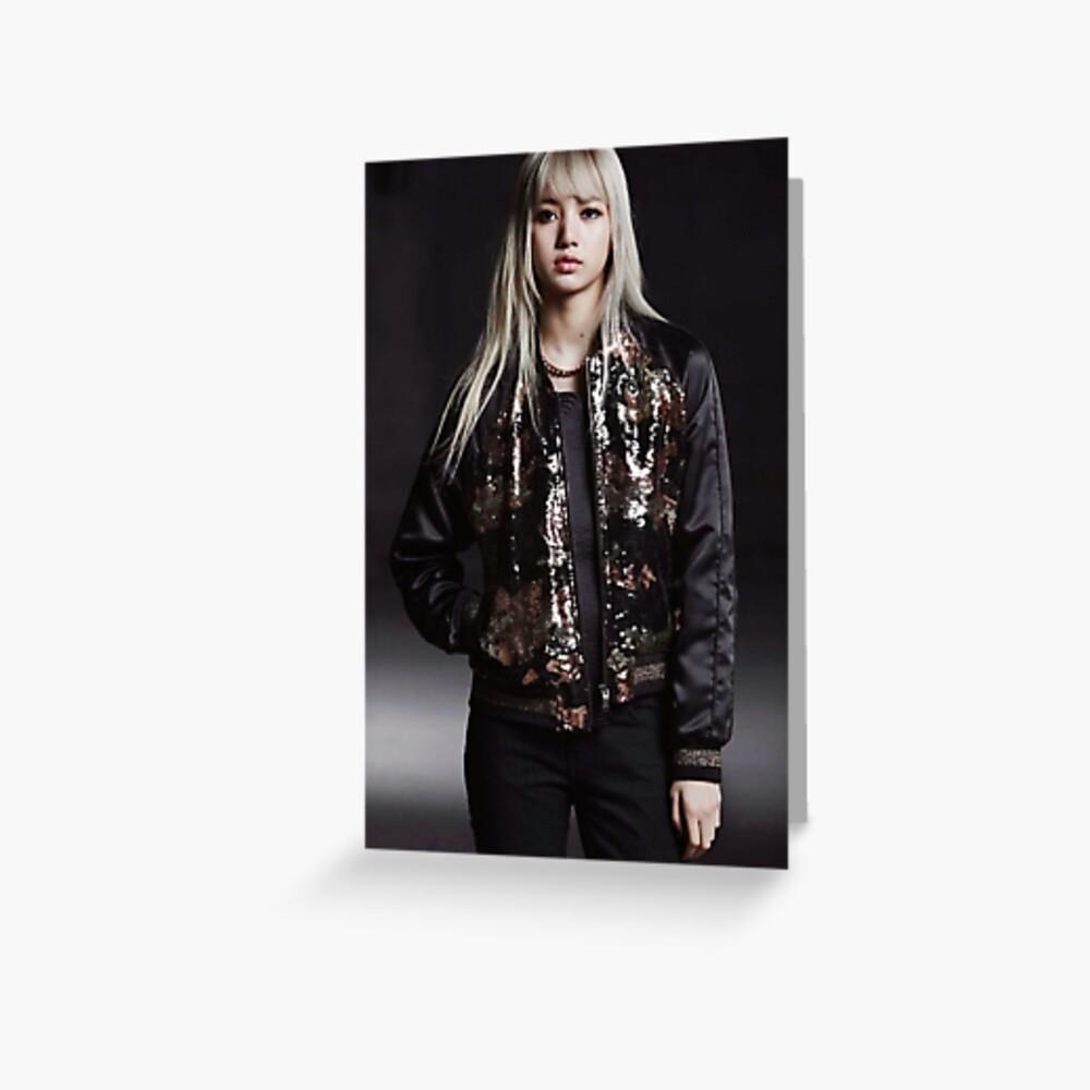 LISA - black Grußkarte
