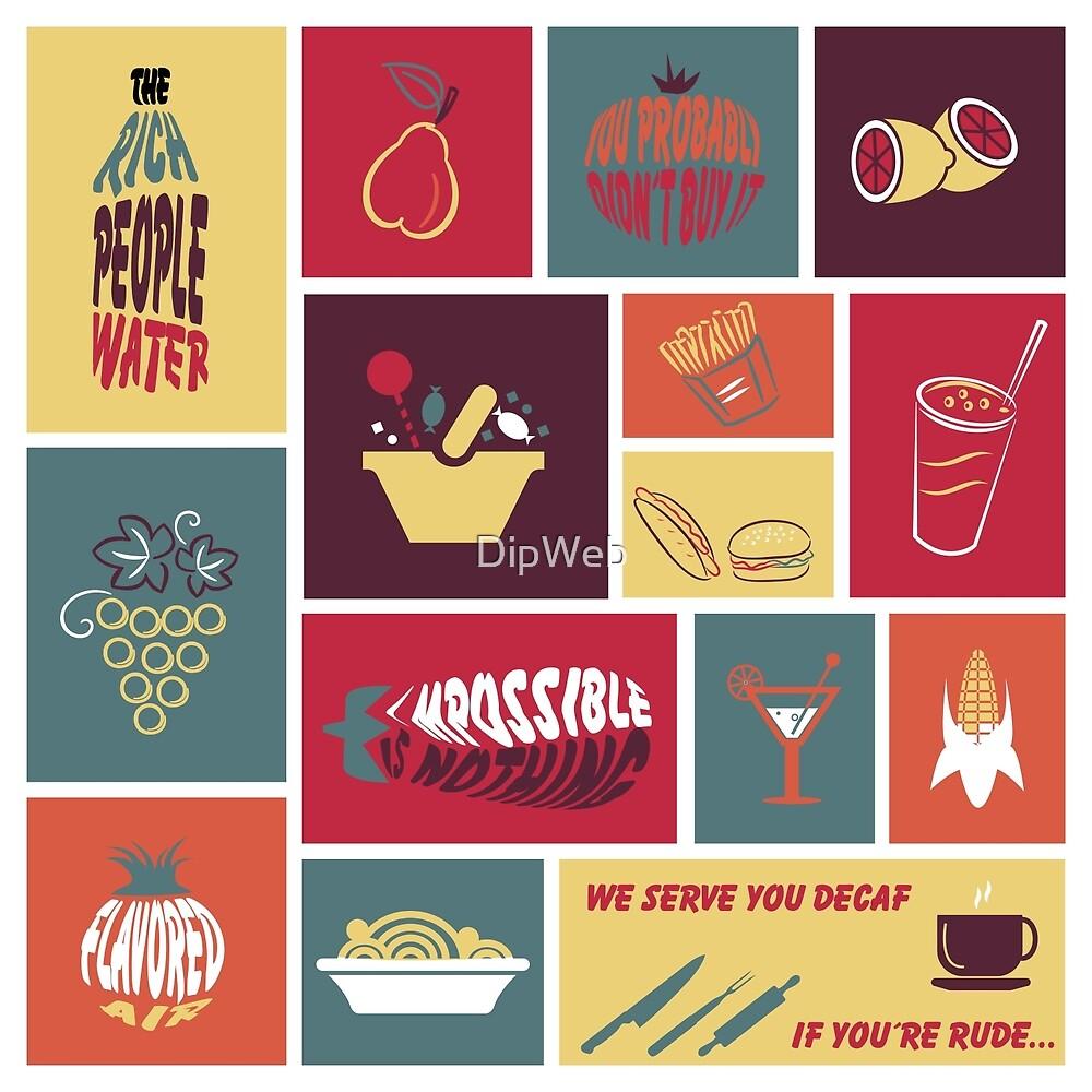 Vintage Food Collage by DipWeb