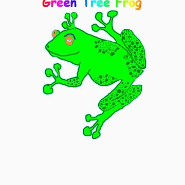 green tree frog by office1234