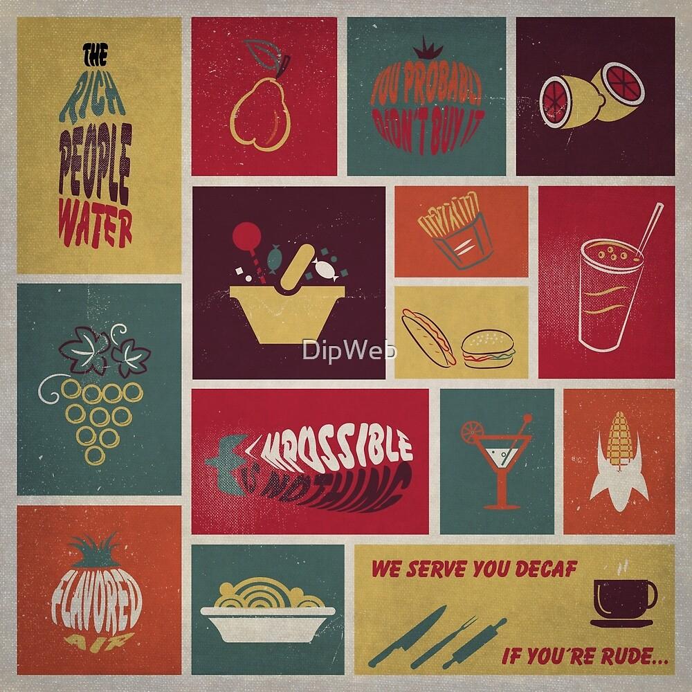 vintage food collage old style by DipWeb