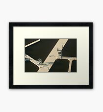 Two Cyclists, Docklands Framed Print