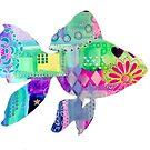 Fancy Goldfish Mixed Media Silhouette by MandalaArts