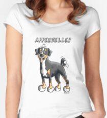 Cute Appenzeller Sennenhund Dog Cartoon Women's Fitted Scoop T-Shirt