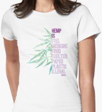 Hemp is Women's Fitted T-Shirt