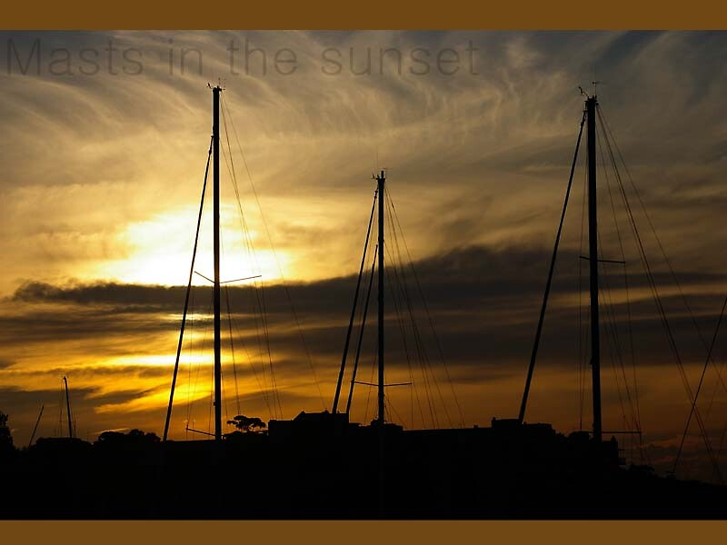 Masts in the Sunset by Missy777