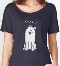 Funny Samoyed Dog Cartoon Women's Relaxed Fit T-Shirt