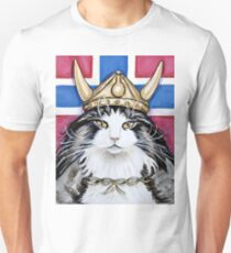 Viking Norwegian Forest Cat Unisex T-Shirt