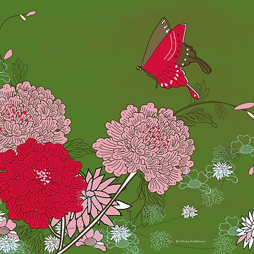 Peony and Butterfly by lilypang