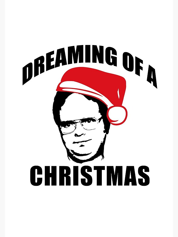 Dwight Christmas.Dreaming Of A Dwight Christmas The Office Schrute Santa Hat Spiral Notebook