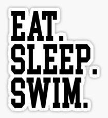 Essen. Schlaf. Schwimmen. Sticker