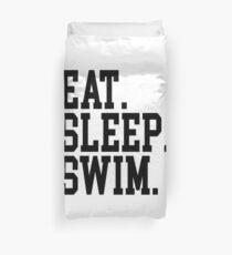 Essen. Schlaf. Schwimmen. Bettbezug